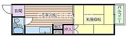 大阪府大阪市北区天神橋5丁目の賃貸マンションの間取り