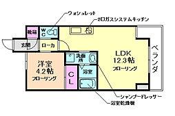 レジディア千里藤白台[3階]の間取り