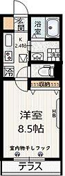 京王井の頭線 三鷹台駅 徒歩7分の賃貸マンション 1階1Kの間取り