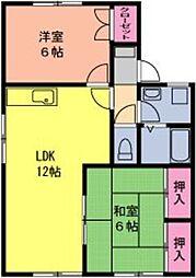 エクレール渋田I[202号室]の間取り