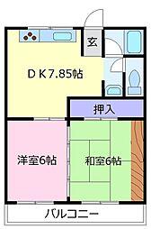 第2塩野マンション[2階]の間取り