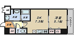 アウル三国ヶ丘[3階]の間取り