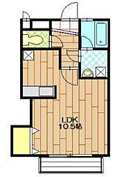 ミラクオーレ[1階]の間取り