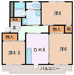 コーポ・AFB[2階]の間取り
