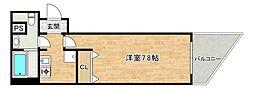 JR大阪環状線 寺田町駅 徒歩5分の賃貸マンション 6階1Kの間取り