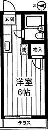 東京都足立区加平2丁目の賃貸アパートの間取り