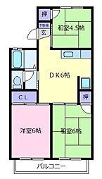 セジュールナカノ[1階]の間取り
