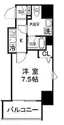 プレールドゥーク浅草橋[1201号室]の間取り