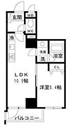 アートヴィラージュ亀戸 7階1LDKの間取り