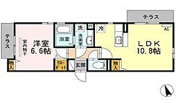 東京都大田区大森西7丁目の賃貸アパートの間取り