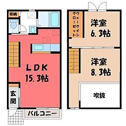 レガーロ V番館 2階2LDKの間取り