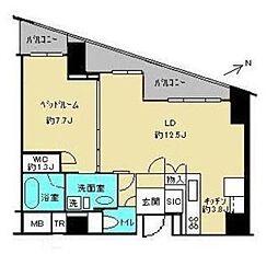 渋谷アインス 4階1LDKの間取り