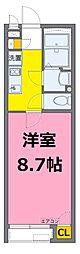 東武野田線 八木崎駅 徒歩15分の賃貸アパート 1階1Kの間取り