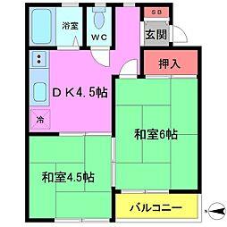 千葉県船橋市夏見台1丁目の賃貸アパートの間取り