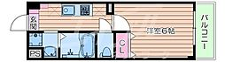 Osaka Metro谷町線 太子橋今市駅 徒歩1分の賃貸マンション 5階1Kの間取り