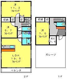 [一戸建] 神奈川県横浜市旭区鶴ケ峰本町3丁目 の賃貸【/】の間取り