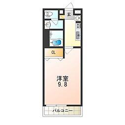 JR東西線 加島駅 徒歩5分の賃貸アパート 1階1Kの間取り