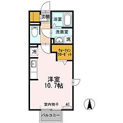 愛知県豊田市寿町4丁目の賃貸アパートの間取り