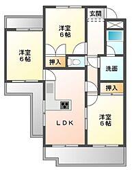 PARK SIDE SUZU:K[5階]の間取り