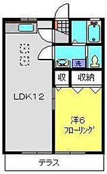 ビューハイツ[1階]の間取り