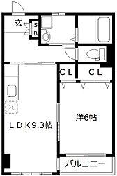 長尾興産ビル[508号室]の間取り