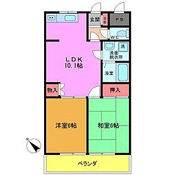 千葉県市川市香取2丁目の賃貸マンションの間取り