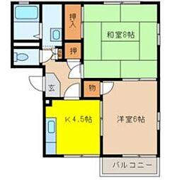 オークヒルA[2階]の間取り