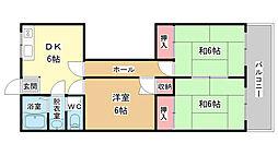 辻清マンション[5階]の間取り