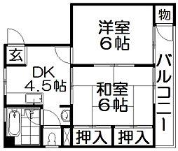 KYコーポ[3階]の間取り