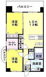 福岡県福岡市早良区重留1丁目の賃貸マンションの間取り