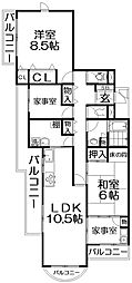 レジデンス香里ケ丘中央[1階]の間取り