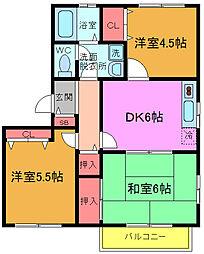 千葉県船橋市藤原2丁目の賃貸アパートの間取り