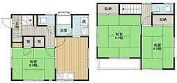 西武新宿線 入曽駅 徒歩16分の賃貸一戸建て 1階3DKの間取り