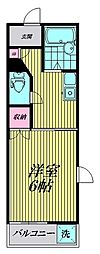 東京都品川区西五反田5丁目の賃貸マンションの間取り