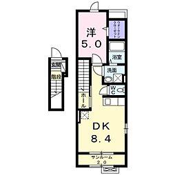 リブレ本郷Ⅱ[2階]の間取り