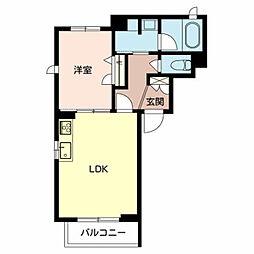 (仮称)堺市北区シャーメゾン新金岡町 2階1LDKの間取り