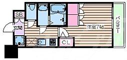 おおさか東線 JR淡路駅 徒歩6分の賃貸マンション 8階1Kの間取り