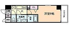 ジュネーゼグラン福島野田[9階]の間取り