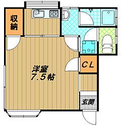 兵庫県神戸市須磨区天神町5丁目の賃貸アパートの間取り