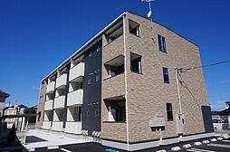栃木県宇都宮市江曽島本町の賃貸アパートの外観