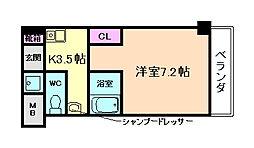 サニー西九条[5階]の間取り