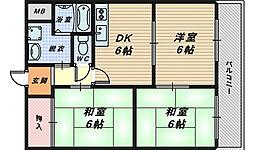 リバティー泉ヶ丘[2階]の間取り