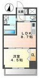 カーサ・クラルス 3階1LDKの間取り