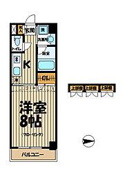 エクセラ鎌倉[511号室]の間取り