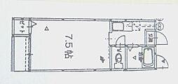 サンシティ名島[202号室]の間取り