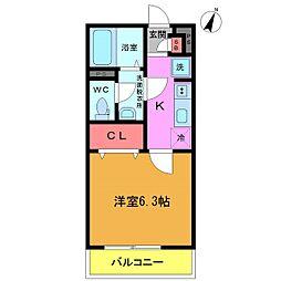 千葉県船橋市飯山満町3丁目の賃貸マンションの間取り