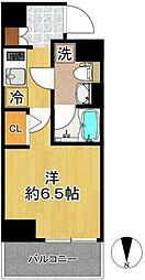 東急東横線 新丸子駅 徒歩5分の賃貸マンション 8階1Kの間取り