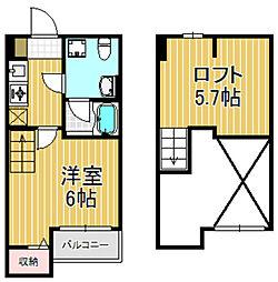 プラムハウス[1階]の間取り