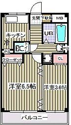 メゾン江戸川[2階]の間取り