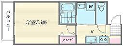 アーバンビュー吉塚[203号室]の間取り